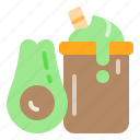 avocado, drink, fruit, health, juice icon