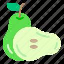 diet, fresh, fruit, health, pear icon