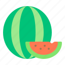 fresh, fruit, health, summer, watermelon icon