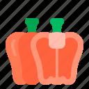 bell, diet, health, pepper, vegan, vegetable icon
