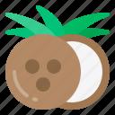 coconut, diet, fresh, fruit, health icon
