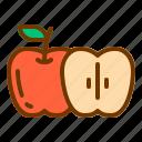 apple, diet, fresh, fruit, health icon