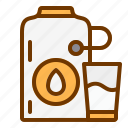 cow, drink, glass, health, milk icon