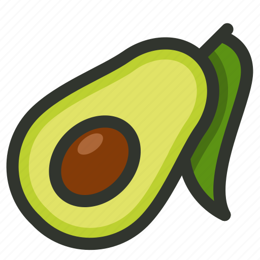 avocado, food, fruit, half, seed icon
