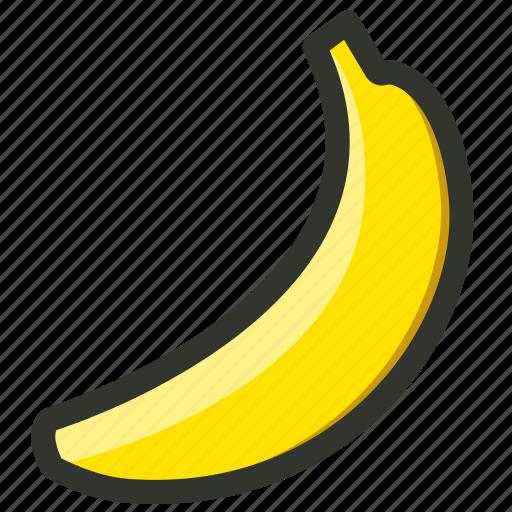 banana, food, fruit, organic, tropical icon