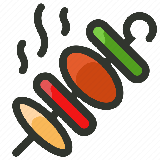 barbecue, bbq, food, hot, kabob, skewer icon