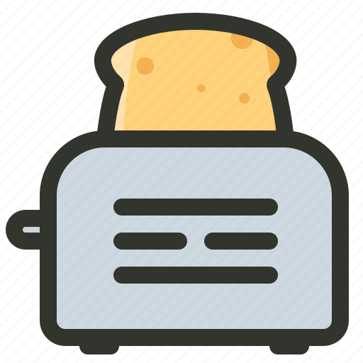 appliance, bread, food, toast, toaster icon