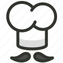 cap, chef, cook, cooking, food, hat, toque icon