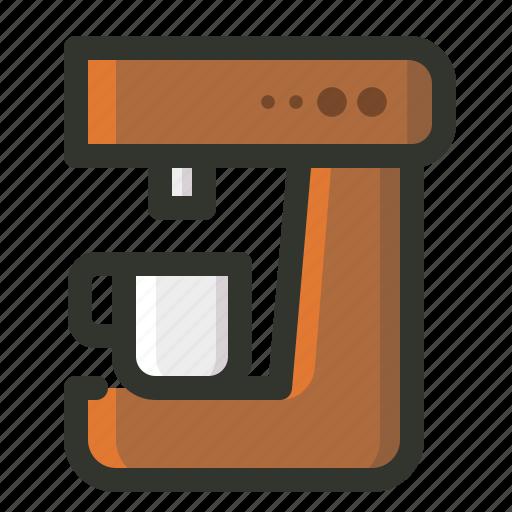 brewer, coffee, food, kitchen, machine, maker icon
