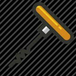 corkscrew, food, opener, utensil, wine icon