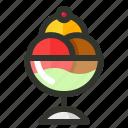 balls, cream, dessert, food, ice icon