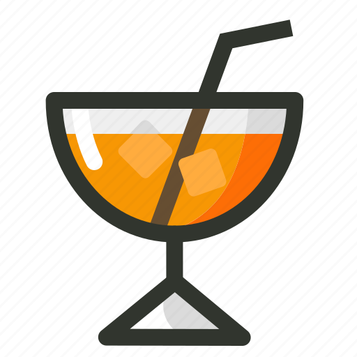 beverage, drink, food, glass, juice, orange icon