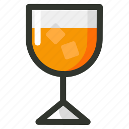 cold, food, fruit, glass, juice, orange icon