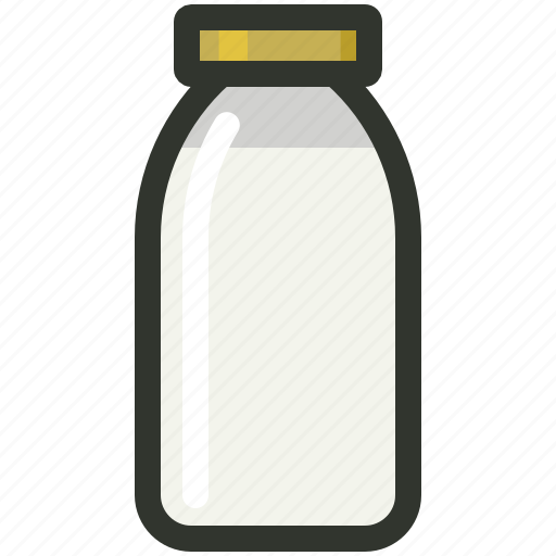 Bottle, breakfast, dairy, food, milk icon - Download on Iconfinder