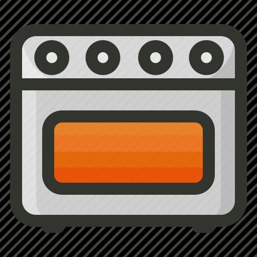 burner, cooking, food, oven, range, stove icon