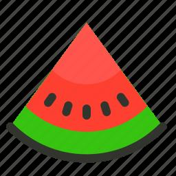 food, fruit, melon, slice, summer, watermelon icon