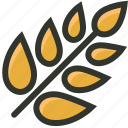 agriculture, food, grain, rice, wheat icon