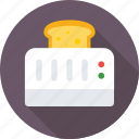 appliance, electronics, kitchen, toast, toaster icon