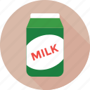 food, juice carton, milk carton, milk pack, package icon