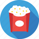 food, kettle corn, popcorn, popping corn, snacks icon