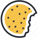 bakery food, biscuit, cookie, cracker, food, refreshment, snack icon