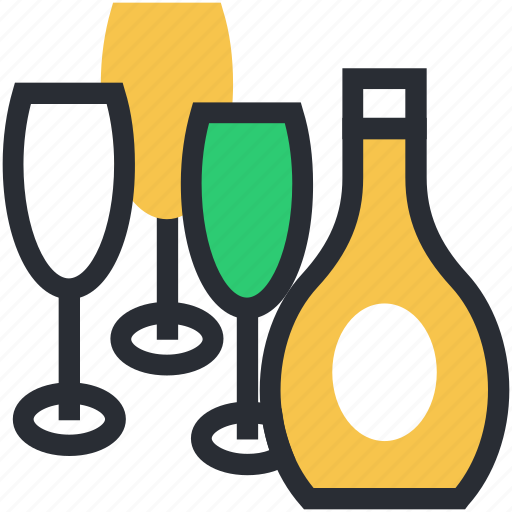 alcohol, beverage, drink, glasses, wine icon
