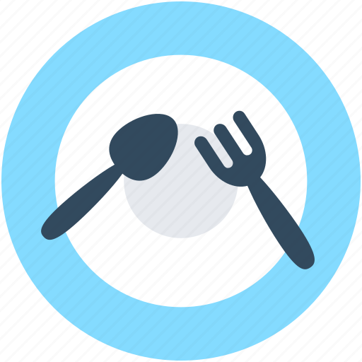 Dining, fork, plate, restaurant, spoon icon - Download on Iconfinder