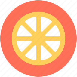 citrus fruit, food, fruit, lemon slice, orange slice icon