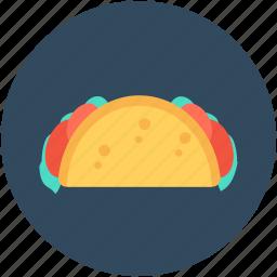 food, mexican dish, snack, tacos, tortilla tacos icon