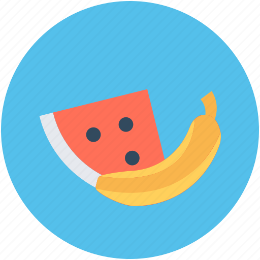 Banana, food, fruits, watermelon, watermelon slice icon - Download on Iconfinder