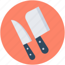 butcher knife, chef knife, cleaver, knife, knives