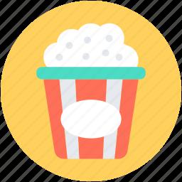 kettle corn, popcorn, popcorn box, popcorn tin, popping corn icon