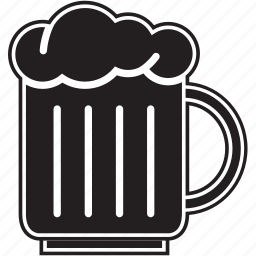alcohol, beer, cup, drink, fill, food, glass icon