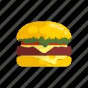 fastfood, burger, cheese, hamburger, food, burger king