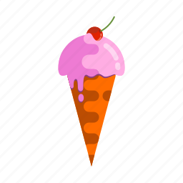 cream, dessert, ice, icecream, sweet, tasty, yummy icon