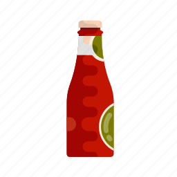 catsup, fastfood, food, ketchup, mustard, sauce, tomato icon