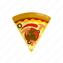 delicious, fast, food, italian, pizza, slice, tasteful icon