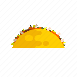 fastfood, food, mexican, savory, shawarma, taco, tasteful icon