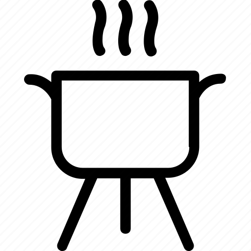 bbq, cooking, food, kitchen, saucepan icon