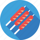 barbecue, bbq, brochette, grilled, skewer icon