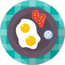 breakfast, egg, food, fried egg, healthy icon