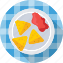 asian, fried, indian food, samosa, spicy icon