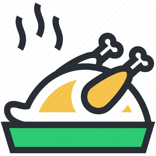 chicken meat, chicken roast, food, spicy chicken, steamed chicken icon
