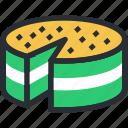 bake food, cake, dessert, sponge cake, sweet icon