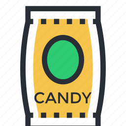 candy, confectionery, sweet, toffee, wrapped candy icon