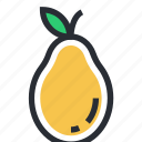 food, fruit, healthy food, pear, pome icon