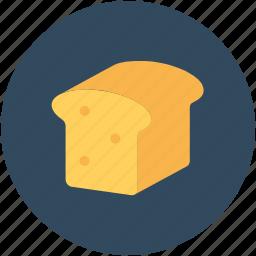 bakery food, bread, bread loaf, breakfast, staple food icon