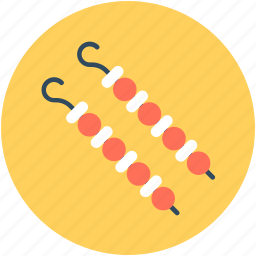 barbecue, bbq, brochette, grill kebab, skewer icon