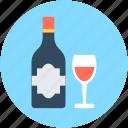 alcohol, beer bottle, wine, wine bottle, wine glass