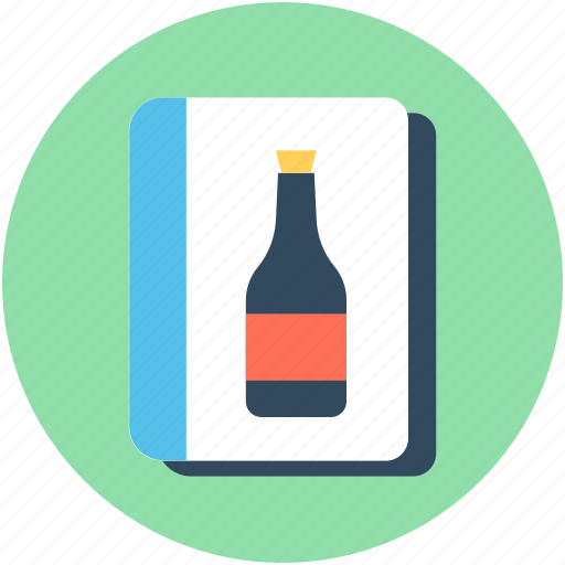 bar menu, drink menu, menu list, wine list, wine menu icon
